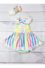 Serendipity Over the Rainbow Baby Bubble Dress (Size 12Mos)