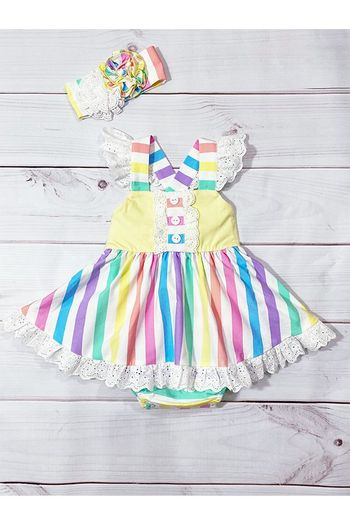 Serendipity Over the Rainbow Baby Bubble Dress (Sizes 3Mos to 24Mos)
