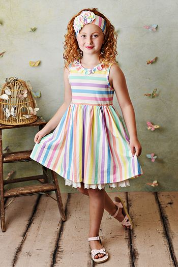 Serendipity Over the Rainbow Dress with Short (2T,4,6,7,8)