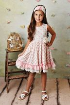 Serendipity Pink Rose Dress and Shortie (2T,3T,4T,4,8)