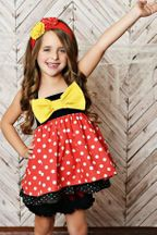 Serendipity Red Polka Dot Set Fairytale (6Mos,9Mos,12Mos)