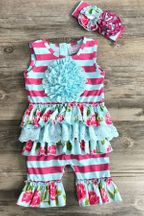 Serendipity Shortall Island Floral (Size 12Mos)