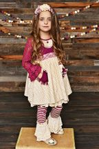 Serendipity Sugar Plum Dress with Leggings (6Mos,9Mos,12Mos,18Mos,24Mos)