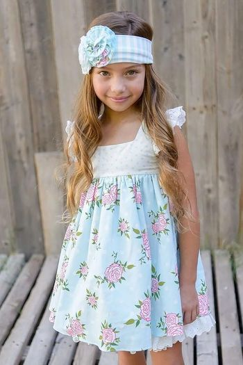 Serendipity Vintage Rose Tunic with Shorts for Girls