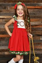 Serendipity Winter Berry Pinafore Dress