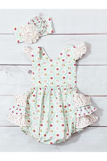 Serendipity Sweet Pea Bubble Baby Dress (Sizes 3Mos to 24Mos)