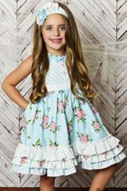 Serenipity Blue Lace Dress with Shorties