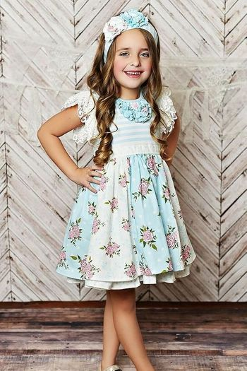 Serenipity Blue Lace Dress with Shorties (12Mos,18Mos,24Mos,2T)