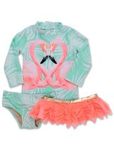 Shade Critters Flamingo Rashguard Set (Size 18Mos to 6)