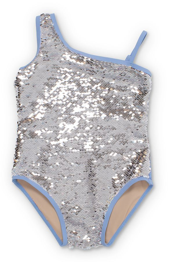 Shade Critters One Shoulder Sequin Swim