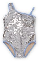 Shade Critters One Shoulder Sequin Swim (4T,12,14)