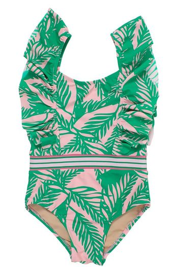 Shade Critters Palm Ruffle Belted Swim (Size 2T)