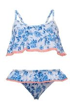 SnapperRock Cottage Floral Bikini in Blue (Sizes 2 to 14)