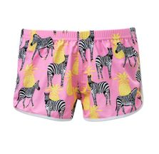 SnapperRock Girls Swim Shorts Zebra (Size 14)