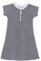 SnapperRock Nautical Stripe Dress Cover Up (Size 7-8)