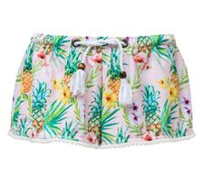 SnapperRock Pink Swim Short Tropicana (4,5-6,12)