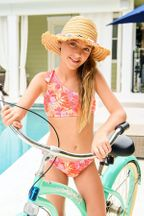 SnapperRock Tropical Punch One Shoulder Swimsuit