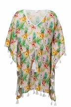 SnapperRock Tropicana Swimsuit Coverup (Size 4)