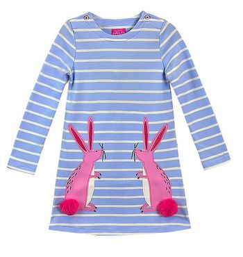 Some Bunny Loves Me Dress for Girls (Size 5)