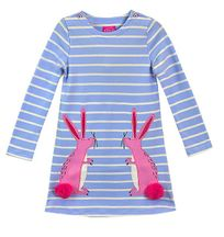 Some Bunny Loves Me Dress for Girls (5 & 6)