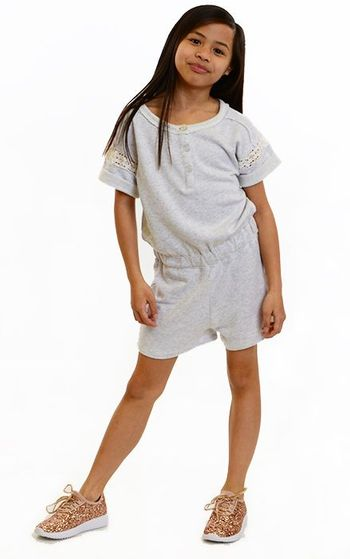 Splendid Tween Sweatshirt Romper with Lace (12 & 14)