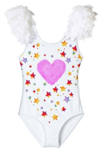 Stella Cove Cloud Star One Piece Swimsuit with Petals (8,10,12)