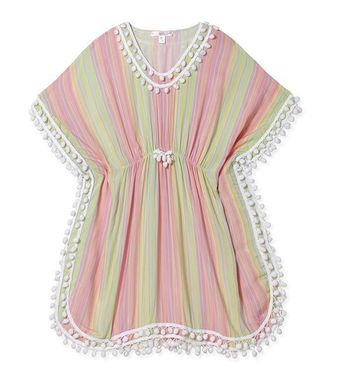 Stella Cove Pastel Stripe Swimsuit Coverup (4,6,8,10)