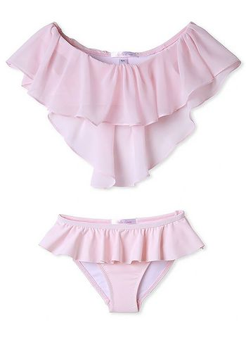 Stella Cove Pink Bikini with Layered Ruffles (6 & 12)
