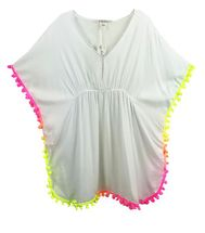 Stella Cove Poncho with Neon Pom Poms (4,6,8)