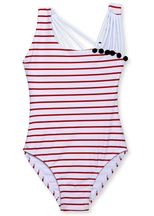 Stella Cove Red White Stripe Tank Suit