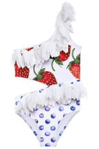 Stella cove Strawberry Tank Swimsuit with Petals