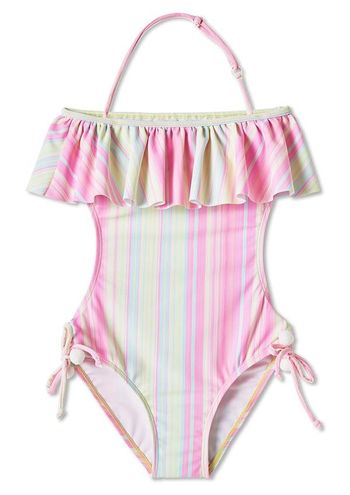 Stella Cove Striped Open Back Swimsuit (Size 6)
