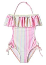 Stella Cove Striped Open Back Swimsuit (6 & 12)