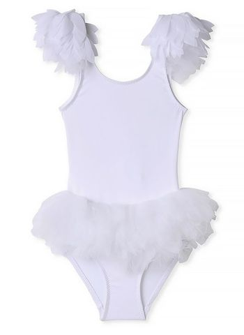 Stella Cove Swimsuit with White Tulle Petals (Sizes 4 to 10)