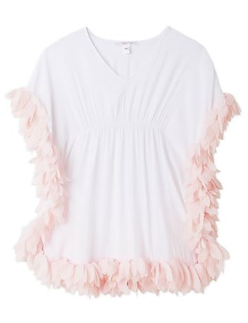 Stella Cove White Coverup with Pink Petals (Size 2)