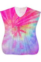 Stella Pink Tie Dye Cover Up Girls