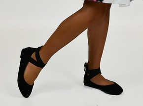 Step With Me Black Ballet Flat (9,10,1Y,3Y)