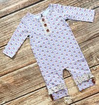 Swoon Baby Lavender Meadow Romper Infant (NB,6Mos,18Mos,24Mos)