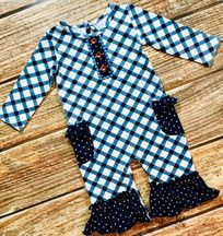 Swoon Baby Nantucket Blue Romper
