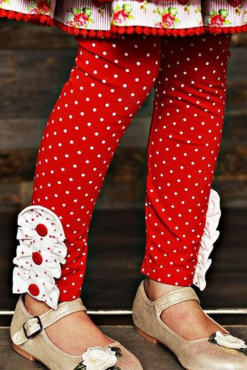Swoon Baby Winter Bloom Red Polka Dot Legging SOLD OUT