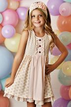 Swoon Blush Petal Prim Tier Dress (Size 3T)