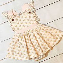 Swoon Blush Petal Dainty Dress Bubble (Size Newborn)