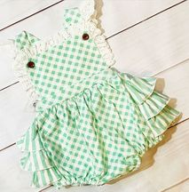 Swoon Flora Bella Frilly Bubble Romper (6Mos,9Mos,18Mos,24Mos)