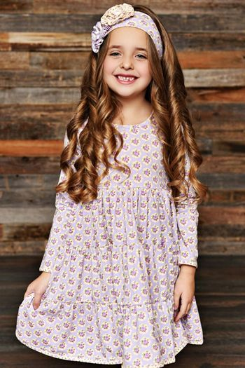 Swoon Peony Dress Levender Meadow (Sizes NB to 8)