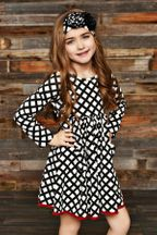 Swoon Vintage Grace Black White Dress