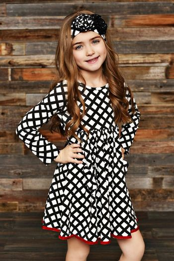Swoon Vintage Grace Black White Dress (12Mos,18Mos,24Mos,2T,3T,4,5)