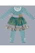 Teal Dress and Legging Set (Size 12Mos) Alternate View