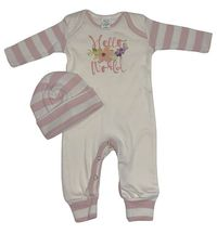 Tesa Babe Hello World Romper with Hat