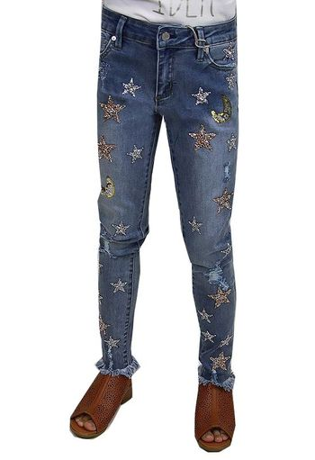 Tractr Gold and Silver Star Jeans