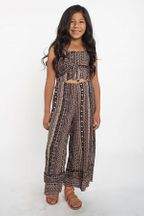 Tru Luv Tribal Romper with Flared Leg
